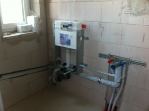 Wasser und Bad | unser Hausbau – festgehalten im Blog | {Duschabtrennung gemauert 78}