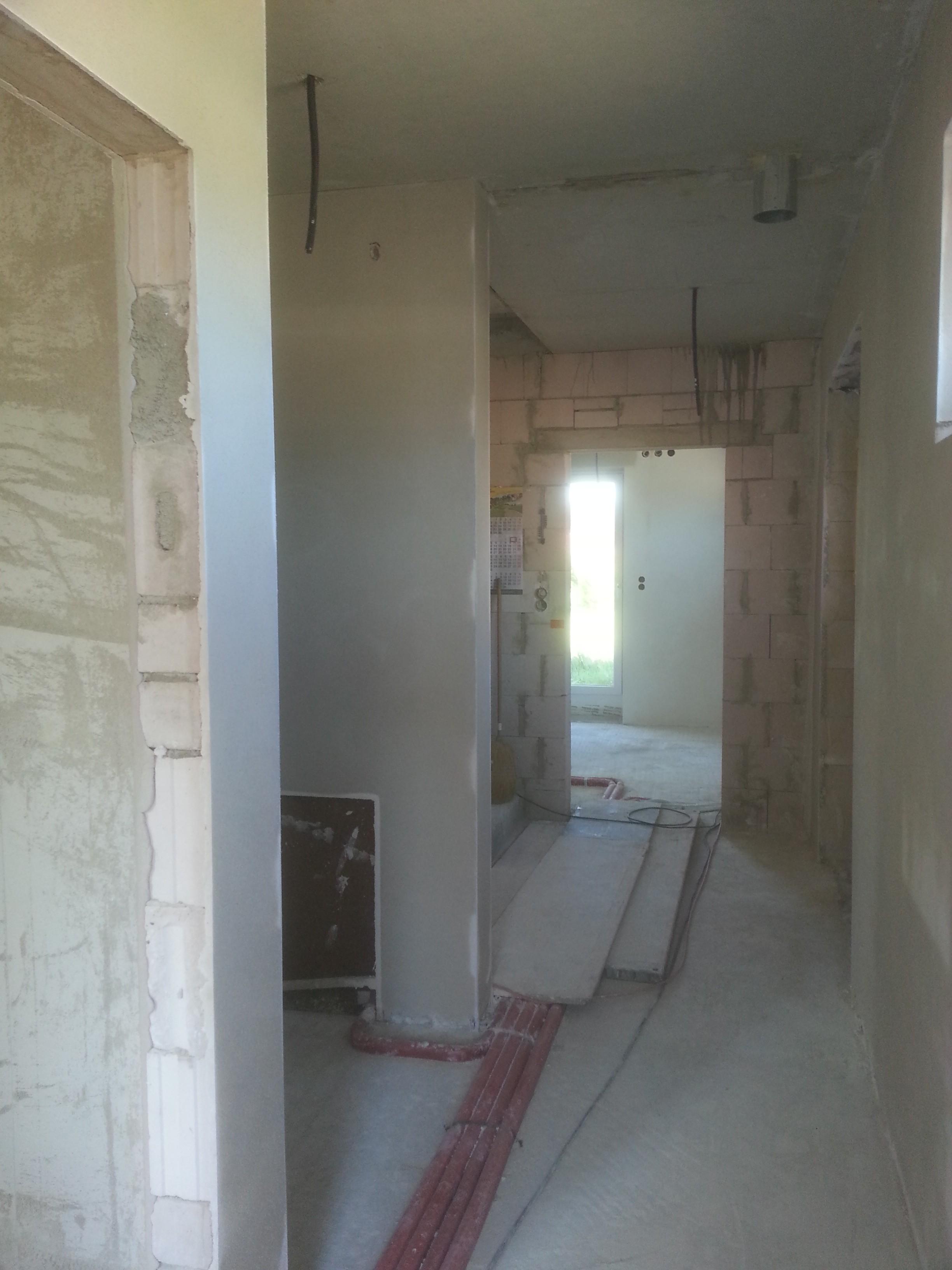verputzen des eingangsbereichs unser hausbau festgehalten im blog. Black Bedroom Furniture Sets. Home Design Ideas