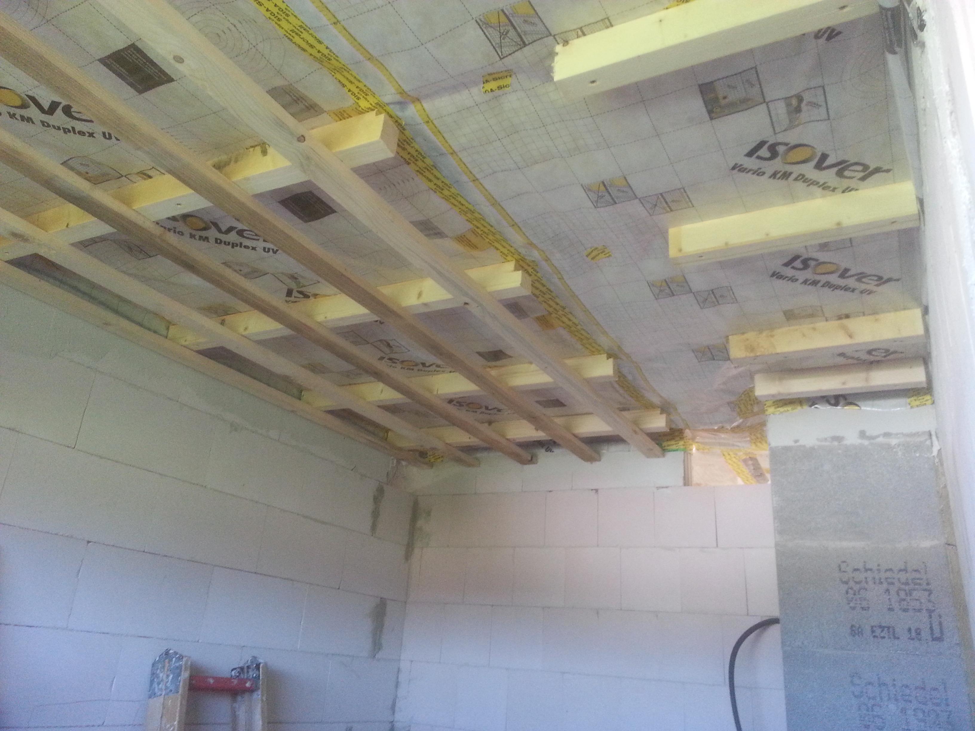 Extrem Unterkonstruktion für Rigips angebracht | unser Hausbau AU44